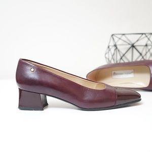 Etienne Aigner 'Siena' Leather Block Heel Pump